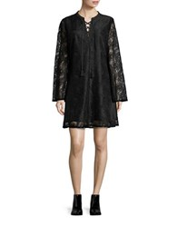 Highline Collective Lace Peasant Shift Dress Black