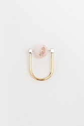 Uribe Ed Pink Opal Ring 18K Gold Plated