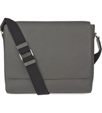 Mulberry Maxwell Grained Leather Messenger Bag Flint Grey