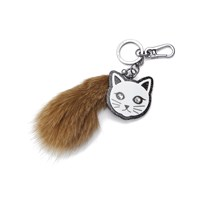 Karl Lagerfeld Women's Fur Tail Keychain Brown