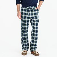 J.Crew Flannel Pajama Pant In Green Plaid