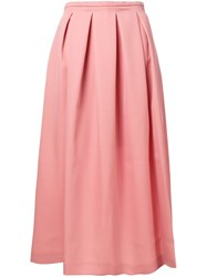 Rochas Pleated Full Skirt Pink And Purple
