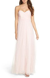 Wtoo Women's Strapless Tulle Gown Ice Pink