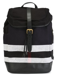 Burberry Canvas Check Backpack Black