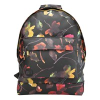 Mi Pac Gold Watercolour Floral Backpack Black
