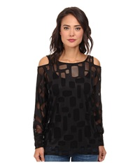 Gabriella Rocha Paige Cutout Arm Top Black Women's Blouse