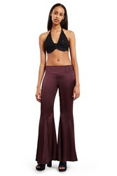 Anna Sui For Opening Ceremony Satin Pants Plum