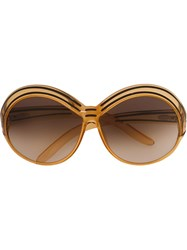 Christian Dior Vintage Oversized Sunglasses Nude And Neutrals