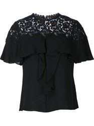 Rebecca Taylor Embroidered T Shirt Black