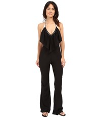 6 Shore Road Black And White Super 70S Jumpsuit Cover Up Black Rock Women's Jumpsuit And Rompers One Piece
