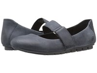 Born Malli River Full Grain Leather Women's Flat Shoes Gray