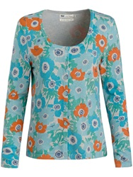 Seasalt Whistle Print Cardigan Penwith Anemones Seaspray