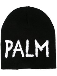 Palm Angels Knitted Cap Black