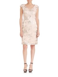 Sue Wong Sequin Embroidered Sheath Dress