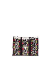 Proenza Schouler Large Ayers And Crochet Lunch Bag In Black Neon Animal Print