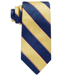 Brooks Brothers Rugby Stripe Tie Yellow