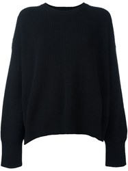 Helmut Lang Crew Neck Ribbed Sweater Black