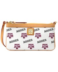 Dooney And Bourke Texas A M Aggies Large Wristlet White