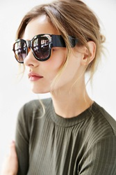 Urban Outfitters Becker Square Sunglasses Black