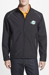 Men's Big And Tall Cutter And Buck 'Miami Dolphins Beacon' Weathertec Wind And Water Resistant Jacket