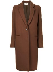 Enfold Single Breasted Coat Brown