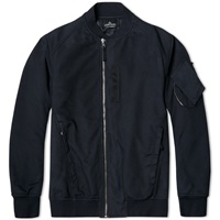 Stone Island Shadow Project Garment Dyed Nylon Twill Bomber Navy