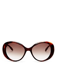Moschino Scattered Logo Oval Sunglasses 56Mm Brown Brown Gradient Lens