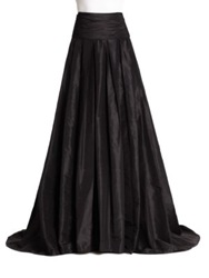 Carolina Herrera Night Collection Silk Cummerbund Ball Gown Skirt Black