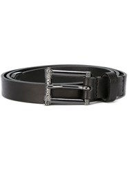 Diesel Logo Buckle Belt Black