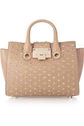 Jimmy Choo Riley Studded Leather Shoulder Bag