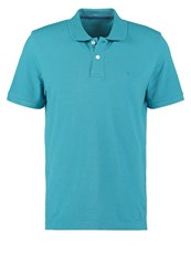 Tom Tailor Regular Fit Polo Shirt Teal Blue Turquoise