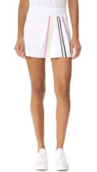 Monreal London Front Pleat Tennis Skirt White