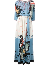 Libertine Printed Belted Maxi Dress