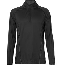 2Xu Thermal Active Textured Tretch Jerey Half Zip Top Black
