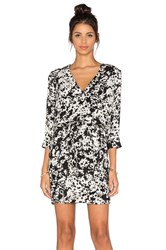 Three Eighty Two Mia Surplice Dress Black And White