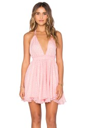 Loveshackfancy Halter Mini Dress Pink