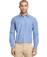 Van Heusen Long Sleeve Traveler Check Shirt Crisp Blue