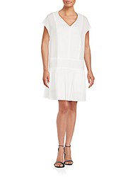 Rag And Bone Solid Cap Sleeve Cotton Dress Bright White