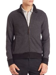 Billy Reid Jacquard Track Jacket Charcoal