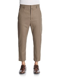 Haider Ackermann Fleece Wool Cropped Pants Walnut