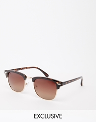 D Struct Clubmaster Sunglasses Brown