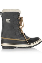 Sorel 1964 Pac Waterproof Suede And Rubber Boots Anthracite