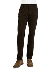 Bugatti Straight Leg Cotton Stretch Pants Brown