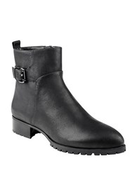 Nine West Lenore Leather Ankle Length Booties Black