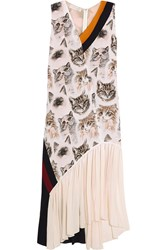 Stella Mccartney Printed Silk Dress Ivory