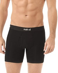 Naked Essential Stretch Cotton Boxer Briefs Pack Of 2 Black