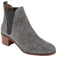 Hudson H By Compound Block Heeled Ankle Boots Grey Reptile