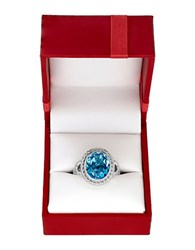 Lord And Taylor Blue Topaz Sterling Silver Ring