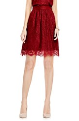 Vince Camuto Women's Scallop Lace Full A Line Skirt