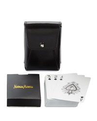Neiman Marcus Playing Cards And Case Set Blk Harnes